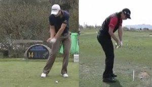 Justin Rose golf swing before impact